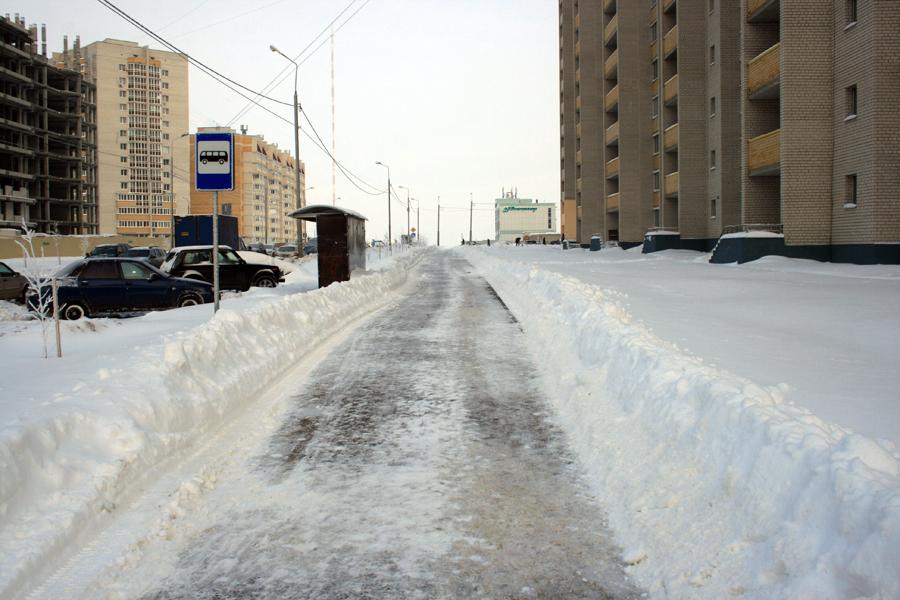 Тротуары в январе