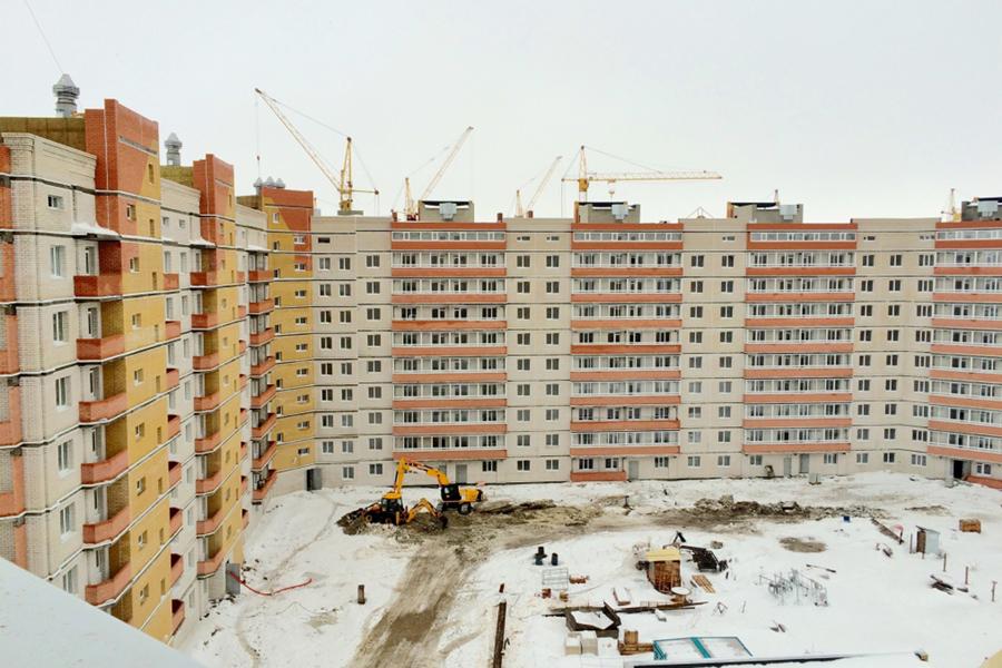 Строительство микрорайона