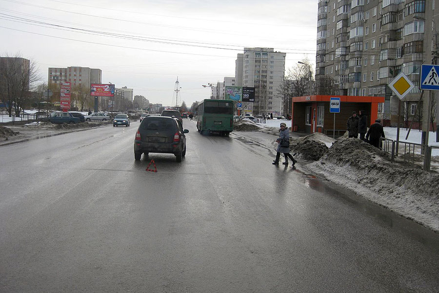 4 февраля, 11:40. ДТП в городе Тамбове на улице Рылеева в районе дома 98