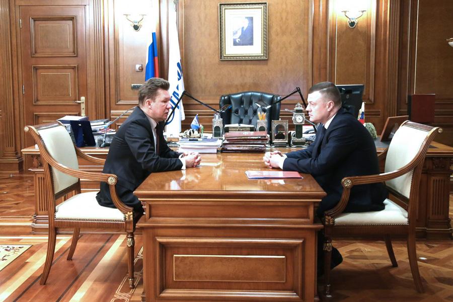 Губернатор А. Никитин на встрече с Алексеем Миллером в Москве