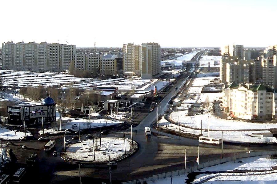 Кольцо на пересечении улиц Мичуринская и Магистральная в Тамбове