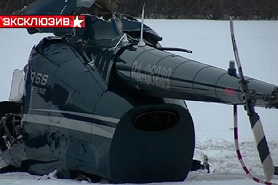 Первое видео с места крушения вертолета под Тамбовом
