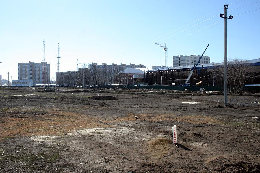 Территория, где будет разбит новый сквер
