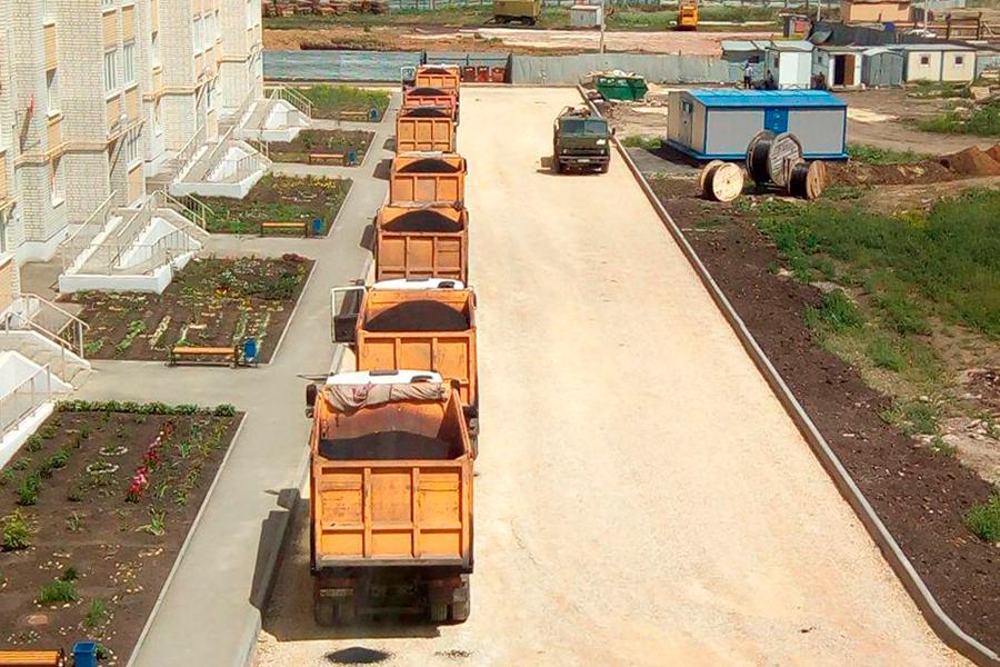 Строительство дорог в Телецентре