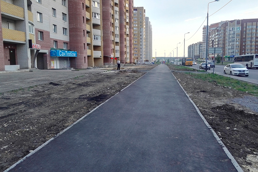 Построенная тротуарная дорожка
