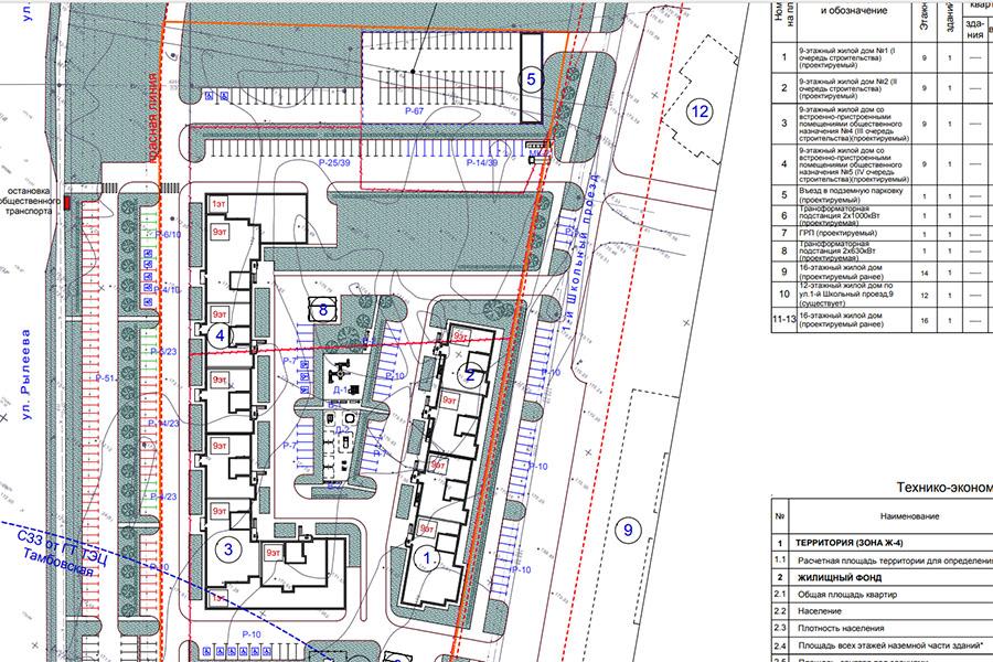 Проект планировки жилого квартала