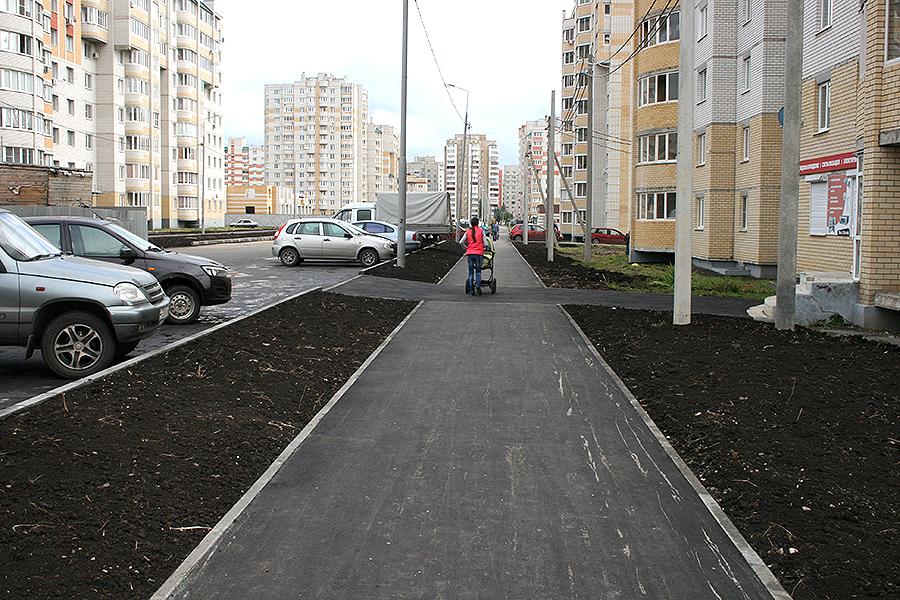 Улица Победы, тротуары. Тамбов