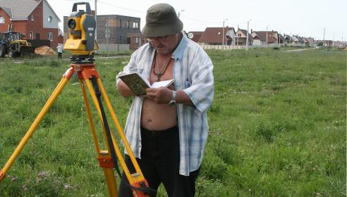 Геодезисты исследовали участок застройки школы Сколково-Тамбов