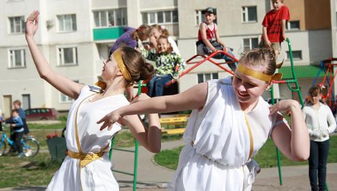 Праздничные мероприятия в мкр Московский, Тамбов
