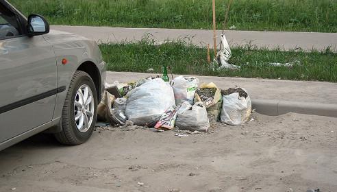 Мусор на улице Ореховая, Тамбов