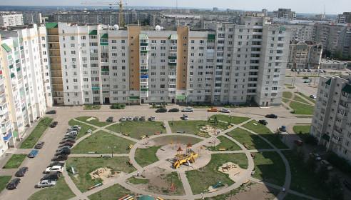 Вид сверху на детскую площадку