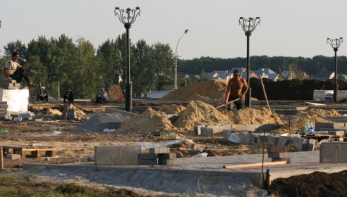 "Строительство сквера ""Французский"" на севере Тамбова"