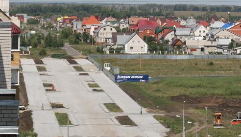 Строительство улицы Ореховой в микрорайоне Уютный