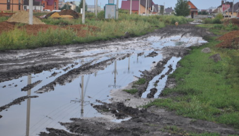 Дорога в микрорайоне Северный в Тамбове