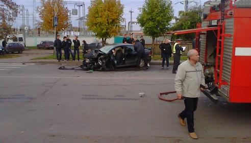 Авария в Тамбове на улице Гагарина 5 октября 2012 года
