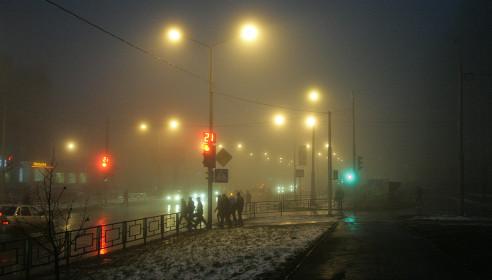 Из-за тумана отменены все автобусные рейсы