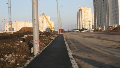 Строительство тротуаров на улице Агапкина