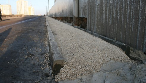 Строительство тротуаров на улице Агапкина в Тамбове