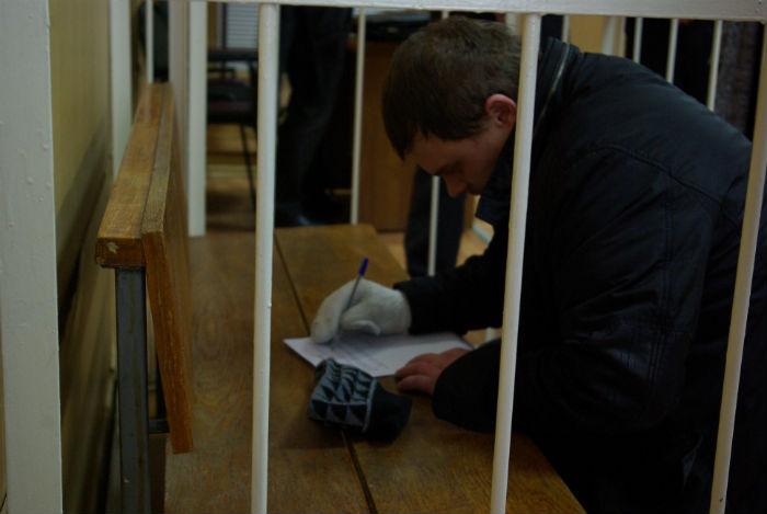 Горденков в зале суда. Фото Protambov.ru