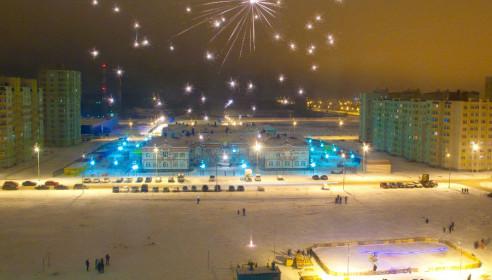 Новогодний фейерверк на севере Тамбова