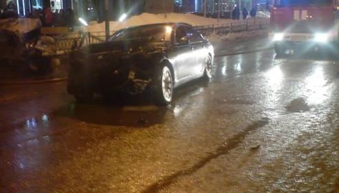 Виновник ДТП - автомобиль БМВ. Авария на Крещение в Тамбове