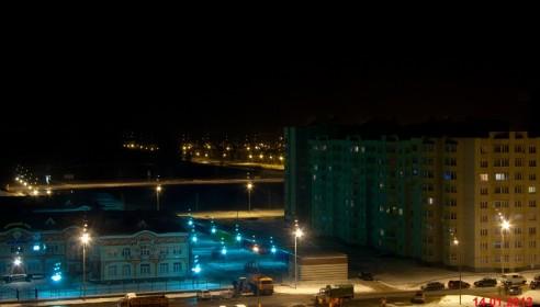 Уборка микрорайона Московский в ночное время