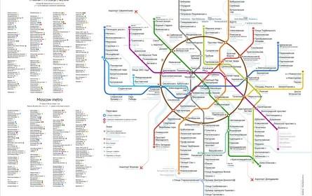 Карта метро. Дизайнер Илья Бирман.