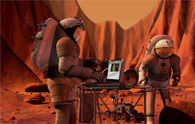 Астронавты. Марс.