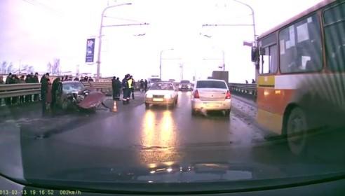 Авария на Астраханской в Тамбове 13 марта 2013 года