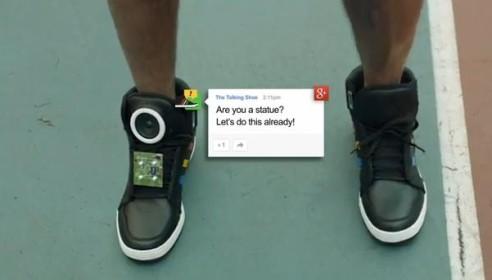Говорящие кроссовки Гугл