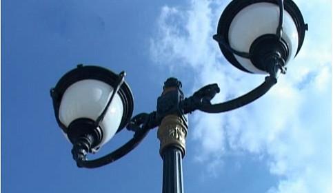 Новые фонари с позолотой в Тамбове