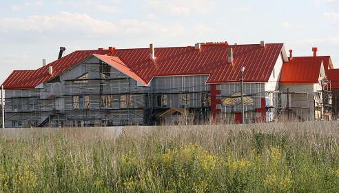 """Детский сад """"Подсолнух"""" в Уютном, строительство. Июнь. 2013 года"""