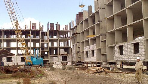 Строительство жилого комплекса у окружной дороги в Тамбове