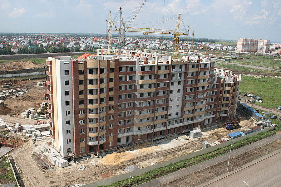 Строительство на улице Агапкина, мкр. Уютный