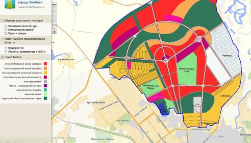 Интерактивная карта Нового Тамбова