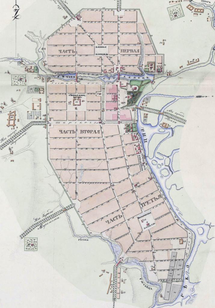 План города Тамбова 1832 года