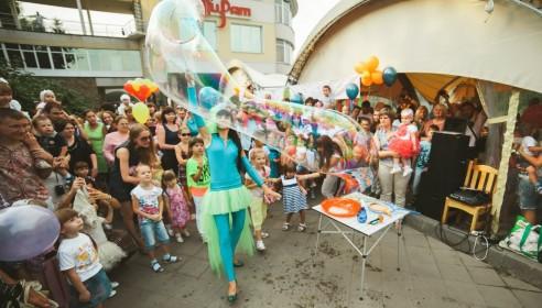 Шоу мыльных пузырей в Тамбове