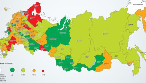 Карта социального самочувствия регионов