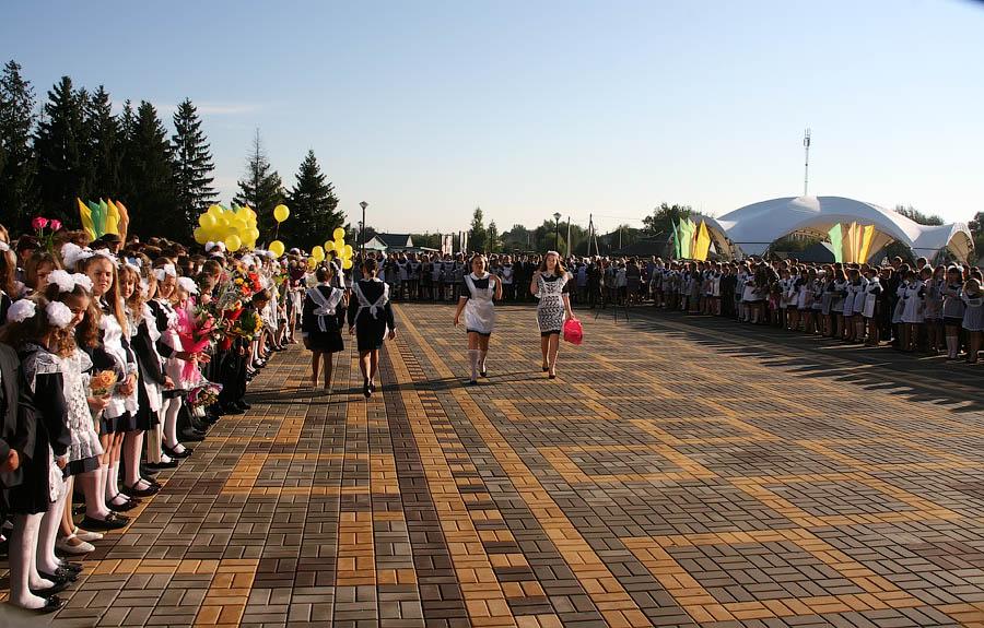 Открытие школы в Петровке