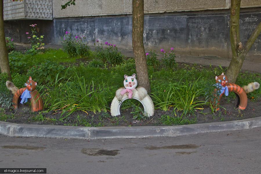 Кошки из колес