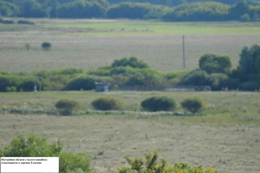 На заднем фоне деревня Елагино в Тамбовском районе