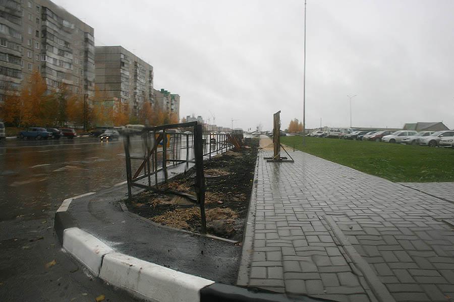 Пешеходные ограждения на Рылеева