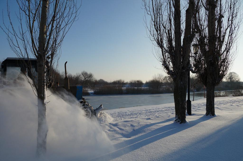 Очистка улиц Тамбова от снега