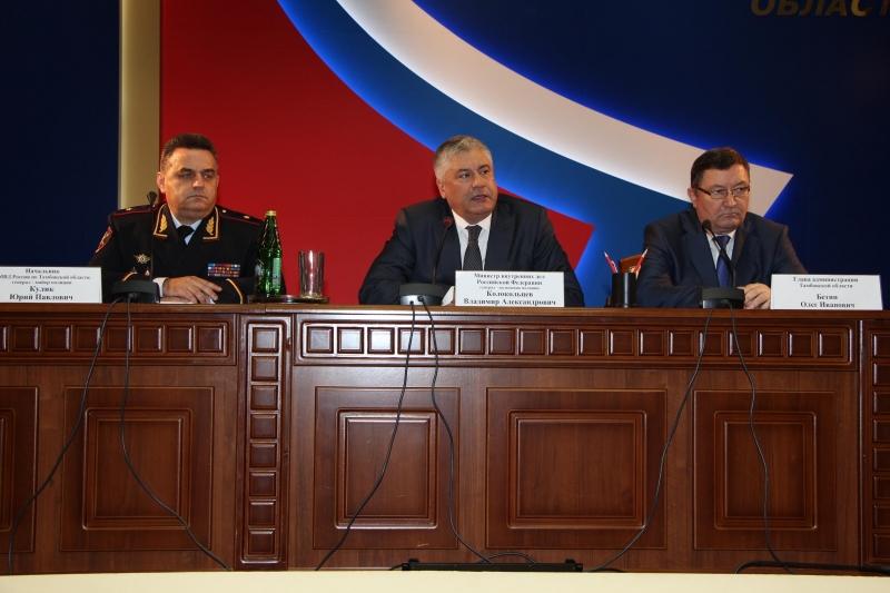 Новый начальник УМВД России по Тамбовской области сегодня был представлен личному составу
