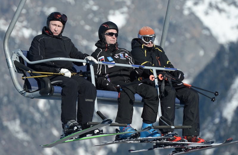 Путин и Медведев в Сочи