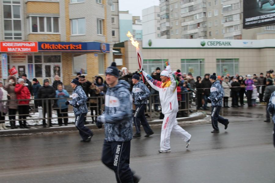 Олимпийский огонь в Тамбове