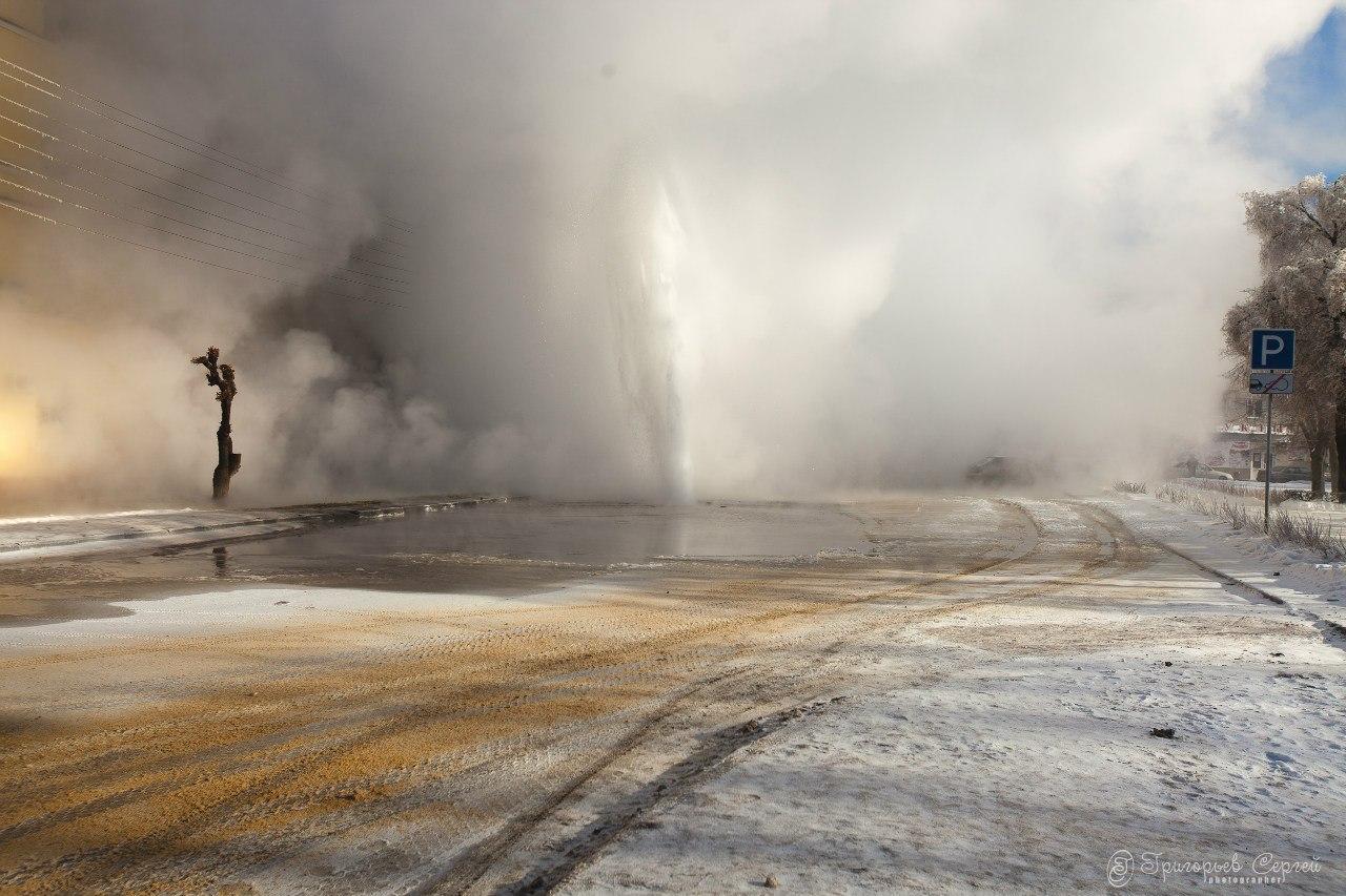 Авария на теплотрассе в Тамбове