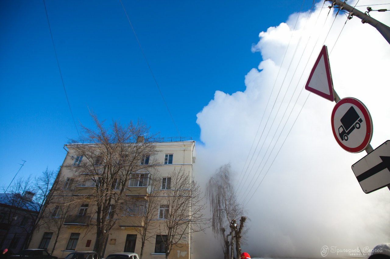 Авария в районе Вечного огня в Тамбове 31 января