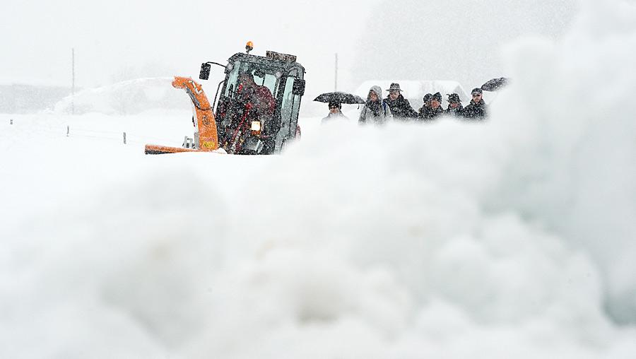 Снегопад в Тамбове