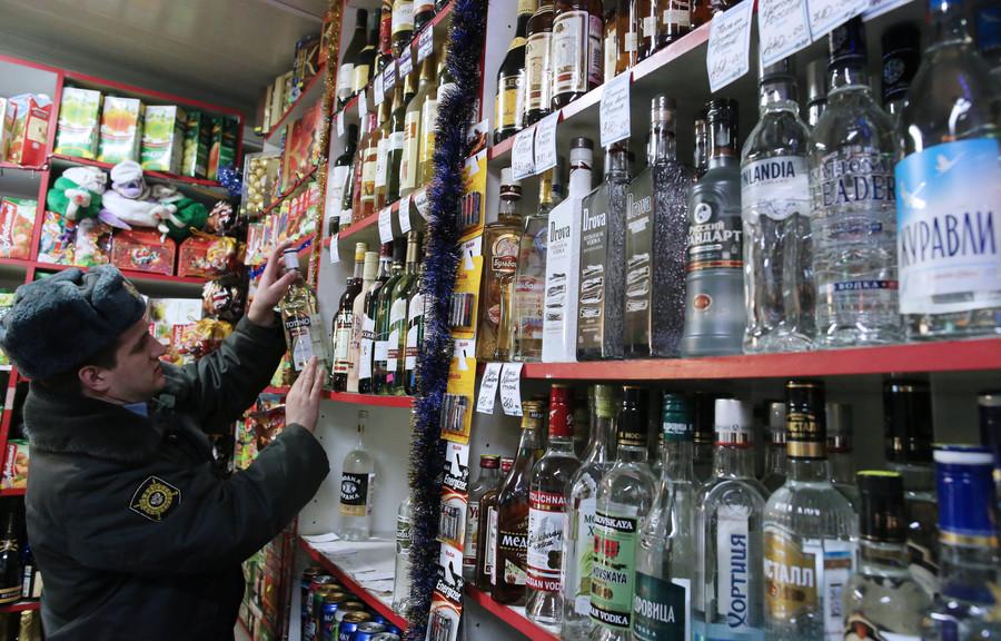Рейд по выявлению и изъятию незаконно продаваемого алкоголя